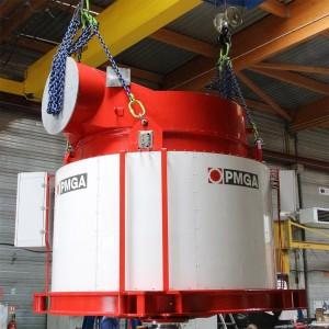Générateur à aimants permanents - centrale de Couzon